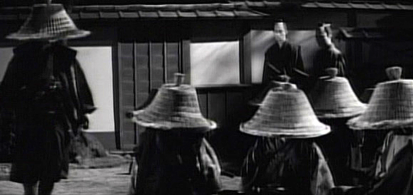 A scene from Yagyu Bugeicho: swordsmen of the Yagyu clan are assembled for a secret mission.