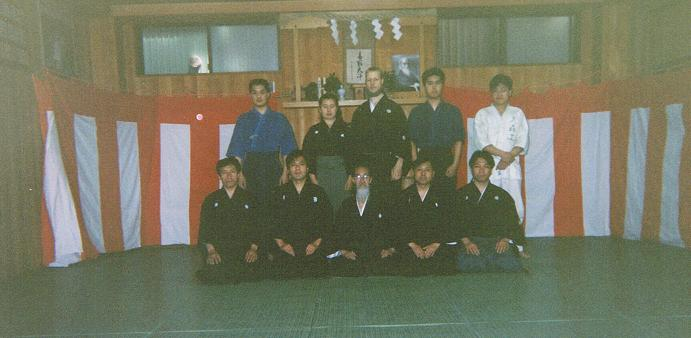 As part of the filming crew on the set for filming the only official video issued on the Sugino-style of Katori Shinto Ryu. (Mr. Tong is the first person from the left in the back row)
